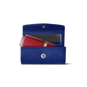 Lucrin - Lipstick Holder - Royal Blue - Goat Leather