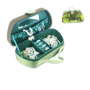 Cardboard and Cloth Jewellery Box Lockable Makeup Storage Case with Mirror