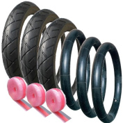 Out n About Nipper Tyre & Tube Set (x3) Puncture Protected 121/2 x 21/4
