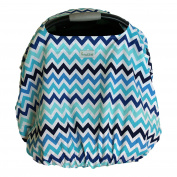 Sprout Shell Sprout Shell 4-in-1 Baby Infant Car Seat Cover with Elastic, Tidal Wave
