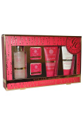 Grace Cole Wild Fig and Cranberry Foam Bath 100ml, Body Wash 100ml, Body Lotion 75ml, Bath Fizzer x 2