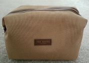 Ted Baker ~ Mens Beige Canvas Weekend Sport Toiletry ~ Wash Bag