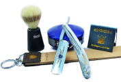 OLD STYLE CUTTHROAT RAZOR SHAVING SET