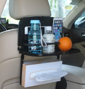 Multipurpose Car Backseat Tray By Lebogner - Back Seat Auto Food And Drink Table Organiser, Fold Down Snack Holder For Vehicle Seat, Multi-Functional Portable Foldable Tray