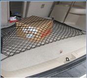 Flexible Car Trunk Black Nylon Net +Mounting Kit Rear Storage Cargo Organiser
