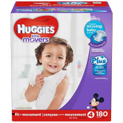 Huggies Little Movers Plus Size 4, 180 Pack
