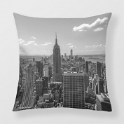 Yourway Home Pillow Cover Black And White Manhattan Skyline Landscape Decorative Pillow Case