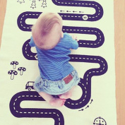 """Every Child Is An Adventurer"" Kids Babys Road Map Cotton Playmats