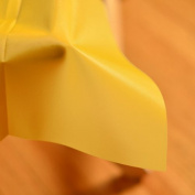 Premium Heavy Duty Plastic 140cm x 270cm Table Cover- School Bus Yellow