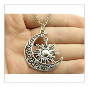 Moon and Sun Necklace Moon Necklace Sun Pendant Necklace BFF Graduation Gift