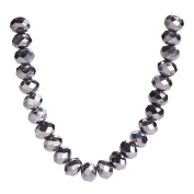 50Pcs Glass Crystal Faceted Rondelle Spacer Loose Beads Jewellery Findings 8x6mm Lot Colour