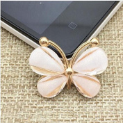 Zidetang 50Pcs Butterfly Alloy Rhinestone Buttons/Buckle Embellishment button DIY accessories