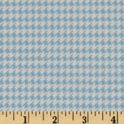 Comfy Flannel Houndstooth Blue Fabric By The Yard