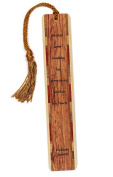 William Godwin Quote - Reading - Engraved Wooden Bookmark with Tassel