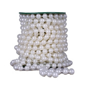 10m 10mm Large Faux Pearls Beads String By the Roll Party Garland Wedding Baby Shower Centrepieces Bridal DIY Decoration Ivory