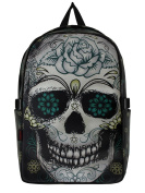 Jawbreaker Flower Skull Backpack Black