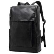 Vbiger Leather Laptop Computer Backpack School College Rucksack