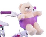 PURPLE TOY TEDDY BEAR FRONT BIKE BASKET DOLL HOLDER SEAT CHILD BOY GIRL FUN ACCESSORY