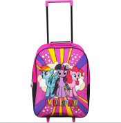 NEW OFFICIAL MY LITTLE PONY GIRLS WHEELED TRAVEL LUGGAGE CABIN TROLLEY BAG