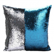 SMTSMT DIY Two Tone Glitter Throw Pillows Cushion Covers -15.18840cm