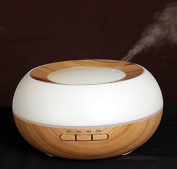 JoySusie 300ml Essential Oil Diffuser with Timer and Seven Colour LED, Light Wood Grain