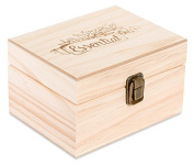 Wooden Essential Oil Box with Generic Modern Logo - Holds 12 (30 ml) Bottles
