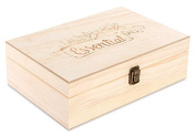 Wooden Essential Oil Box with Generic Modern Logo - Holds 55 Bottles