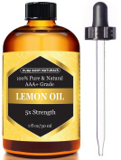 Lemon Essential Oil for Aromatherapy, 5x Extra Strength, 30ml by Pure Body Naturals