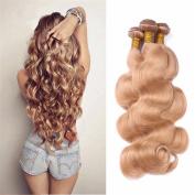 Tony Beauty Hair Strawberry Blonde #27 Hair Bundles 3Pcs Brazilian Body Wave Virgin Human Hair 3 Bundles 10-80cm