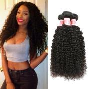 YIZE Hair Virgin Malaysian Curly Hair 3 Bundles Unprocessed 7A Grade Malaysian Human Hair Weave Natural Black Colour
