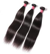 Ali Queen 3 bundles Mixed length 20cm 25cm 30cm 3pcs/lot 300 Grammes 100% Weave Brazilian Virgin Human Straight Hair Extensions …
