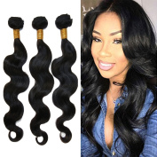 Feb'L Fleur Brazilian Human Hair 6A Grade Virgin Hair Body Wave 3 Bundles Mixed Length Can be Dyed Or Bleached