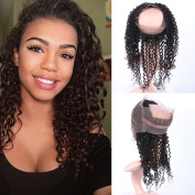 Fennell Deep Curly Brazillian Human Hair Hand Tied 360 Full Lace Frontal Closure With Baby Hair Natural Colour 360 Lace Band Frontals