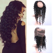 Fennell Deep Wave 360 Lace Band Frontals Brazillian Human Hair Full Hand Tied 360 Full Lace Frontal Closure With Baby Hair Natural Colour