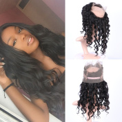 Fennell Loose wave 360 Lace Band Frontals With Baby Hair Brazillian Human Hair Hand Tied 360 Full Lace Frontal Closure Natural Colour