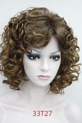Synthetic Short Curly Costume Full Wig for Women And Ladies European and American Popular Party Wig , Daily wig