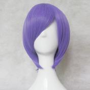NO GAME NO LIFE Hatsuse Izuna Purple Straight 35cm Short Cosplay Wig