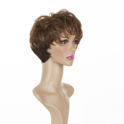 "Short Brown Cropped Mature ""Joy "" Wig 