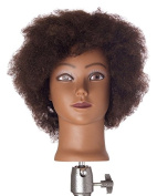 Pretty In a Minute 100% Human Hair Ethnic Kinky Manikin Dionne, 30cm H