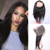 Fennell Silky Straight 360 Lace Band Frontals Brazillian Human Hair Hand Tied 360 Full Lace Frontal Closure With Baby Hair Natural Colour