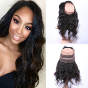Fennell Brazillian Human Hair Body Wave Hand Tied 360 Full Lace Frontal Closure With Baby Hair Natural Colour 360 Lace Band Frontals