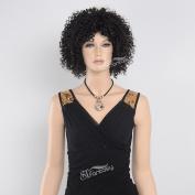 Stfantasy Short Black Afro Wig for Black Women+free WIG CAP