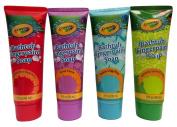 Childrens Crayola Bathtub Fingerpaint Soap Assorted Colours - (4) 90ml Tubes