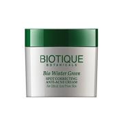 Biotique Spot correcting Anti-Acne Cream - Winter Green 16g by Biotique