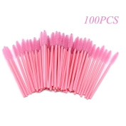 KINGLAKE 100PCS Disposable Eyelash Brushes Mascara Wands Makeup Brush Applicator