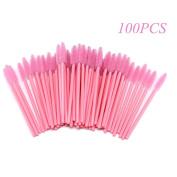 KINGLAKE 100PCS Disposable Eyelash Brushes Mascara Wands Makeup Brush Applicator