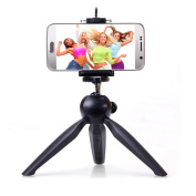 Lychee Mini Tripod Stand With Holder Clip 360° Rotatable Tripod Stand With Bluetooth Remote Control for Mobile Phone, Micro-single, Digital Camera, DV, DSLR Camera