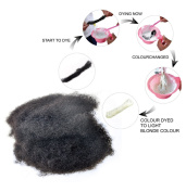 YONNA 1pcs/lot Tight Afro Kinky Bulk Hair 100% Human Hair For Dreadlocks,Twist Braids Natural Balck Colour 1B# Can Be Dyed Weight 30ml 20cm