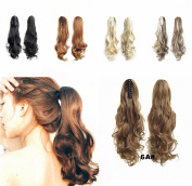FESHFEN 60cm 170g Hair Piece Pony Tail Ponytail Hair Extensions Hairpiece Long Straight/Voluminous Curled Wavy Clip In/On Claw Ponytail 6A
