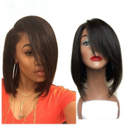 Bob Wig 7A Silky Straight Short Human Hair Bob Wigs Lace Front Human Hair Wigs For Black Women 25cm